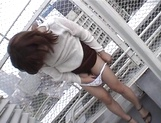 Dirty-minded Asian teen, Riho Mishima, gets her mouth and pussy fucked hard