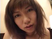 Inexperienced teen, Riho Mishima gets plenty of experience with cock