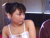 Sexy teen Masami Abe gives head and a nice tittyfuck