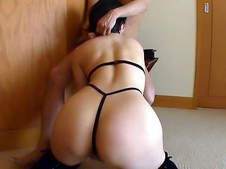 Nanako Mori, hot Asian milf in sexy lingerie is banged doggy style