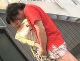 Dominating Japanese AV Model is a mature cock hunting milf picture 17