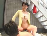Dominating Japanese AV Model is a mature cock hunting milf picture 65