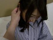 Ayumi Shinoda, Asian babe with big tits and glasses gets nailed hard