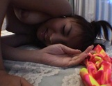 Curvaceous Mai Hagiwara banged and cummed on picture 48