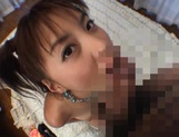 Curvaceous Mai Hagiwara banged and cummed on picture 75
