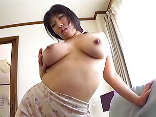 Naughty Nozomi Mikimoto gets a creamed pussy