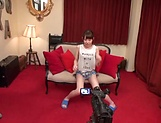 Ebina Rina has her shaved twat pleased well picture 12