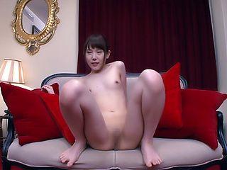 Ebina Rina has her shaved twat pleased well