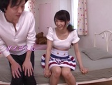 Japanese teen Iku Natsumi with shaved pussy gets fucked and creampied picture 11