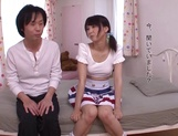 Japanese teen Iku Natsumi with shaved pussy gets fucked and creampied picture 12