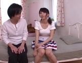 Japanese teen Iku Natsumi with shaved pussy gets fucked and creampied picture 13