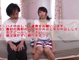 Japanese teen Iku Natsumi with shaved pussy gets fucked and creampied picture 15
