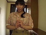Nozomi Mikimoto gets a messy cum on tits