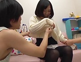Lovely Risa Shiori has her cunt creamed picture 12