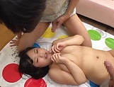 Lovely Risa Shiori has her cunt creamed picture 134
