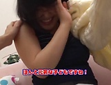 Lovely Risa Shiori has her cunt creamed picture 13