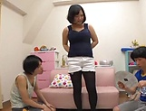 Lovely Risa Shiori has her cunt creamed picture 17