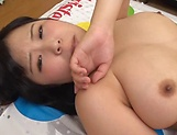 Lovely Risa Shiori has her cunt creamed picture 202