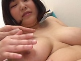 Lovely Risa Shiori has her cunt creamed picture 80
