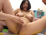 Lovely Risa Shiori has her cunt creamed picture 86