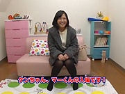 Lovely Risa Shiori has her cunt creamed