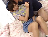 Itou Hatenatsu nipples toyed with before a blowie picture 11