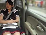 Houtsuki Haruna masturbating amazingly in the car