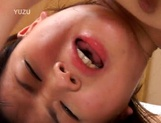 Hairy Asian teen Rua Mochizuki fingered and fucked hard and facial