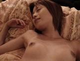 Petite Japanese milf with fragile body sucks cock on pov
