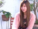 Young Ayumi Mochizuki recives hard pounding action
