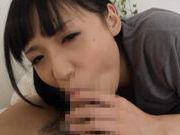 Nice Asian teen cock sucking ending with cum in her mouth