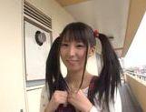 Pigtailed teen Yuuki Itano enjoying a tasty pov oral