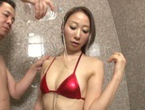 Slim Mai Aoi gets naughty in the warm shower picture 15