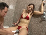 Slim Mai Aoi gets naughty in the warm shower