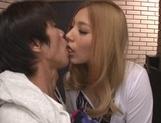 Gorgeous Japanese milf Karen Uehara is a passionate cock lover