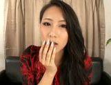 Naughty babe Koi Azumi enjoys solo session
