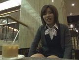 Kinky Japanese teen blows hot guy in a car swallowing jizz picture 13