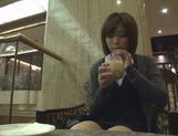 Kinky Japanese teen blows hot guy in a car swallowing jizz picture 14