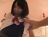 Sexy Asian teen Iku Natsumi is wild as she is fucked