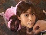 Kinky Japanese AV girl Hime Kamiya enjoys Asian pov facial picture 11