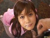 Kinky Japanese AV girl Hime Kamiya enjoys Asian pov facial picture 12