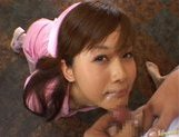 Kinky Japanese AV girl Hime Kamiya enjoys Asian pov facial picture 14