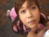 Kinky Japanese AV girl Hime Kamiya enjoys Asian pov facial picture 15