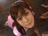 Kinky Japanese AV girl Hime Kamiya enjoys Asian pov facial