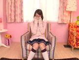 Alluring Asian teen Yuka Yamaguchi sucks cock for a facial picture 14