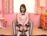 Alluring Asian teen Yuka Yamaguchi sucks cock for a facial