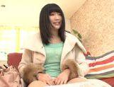 Beautiful Japanese teen Satomi Nomiya rides cock and gets creamed