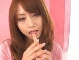 Sweet Japanese AV model Akiho Yoshizawa rides dick on Asian pov picture 9