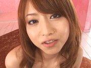 Sweet Japanese AV model Akiho Yoshizawa rides dick on Asian pov