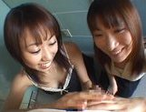 Asian sex doll Haruka Mitsuki and her friend in Asian pov action